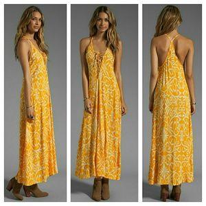New indah satria maxi dress antik yellow laceup M