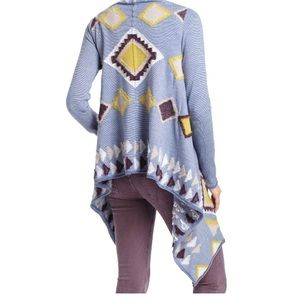 Anthropologie Southwest Blanket Sweater