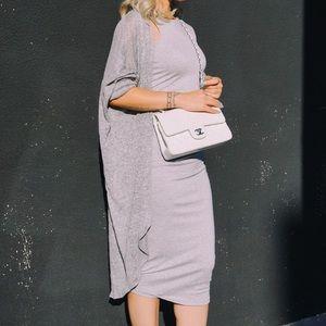 CREME DE LA FAME Dresses - CDLF Grey Midi Dress