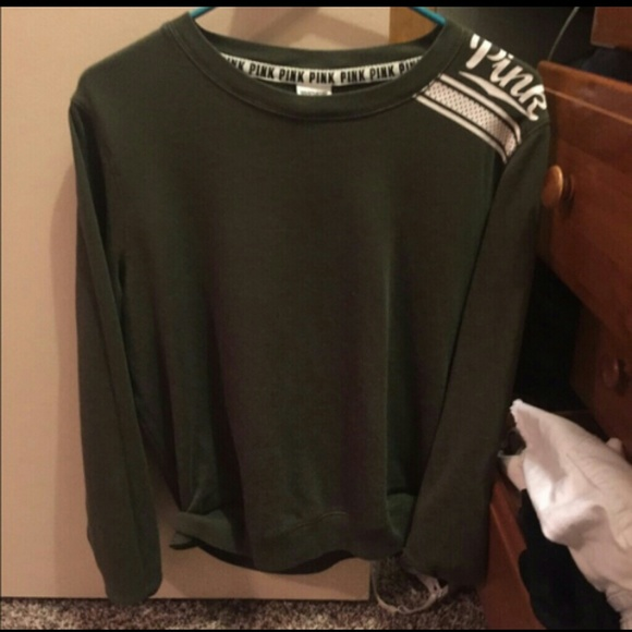24% off Victoria's Secret Sweaters - PINK olive green crew from ...