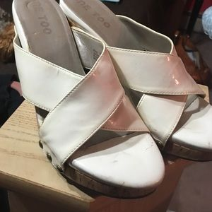 me too Shoes - White wedges