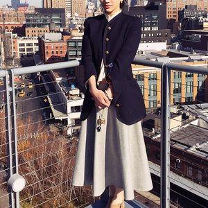 The Row Dresses & Skirts - THE ROW wool skirt gray