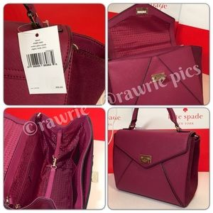 c60918426406 kate spade Bags - SALE New Kate Spade burgundy leather suede Satchel