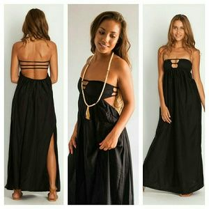 Indah Dresses & Skirts - New indah 100% silk flamingo maxi dress black xs