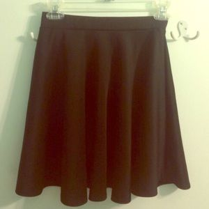 Black elastic waist skater skirt from Nordstrom