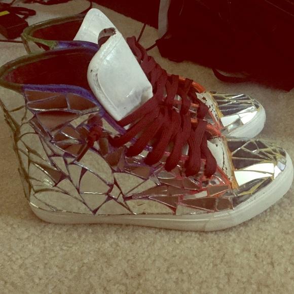 Custom Made Glass Tennis Shoes   Poshmark