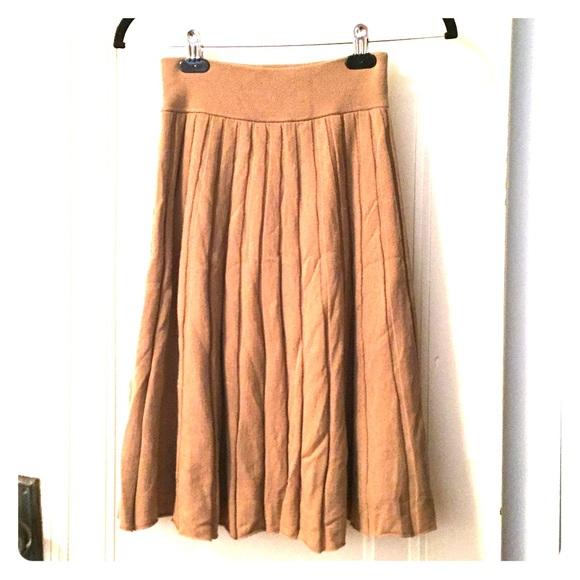 bf460d6dcc J. Crew Dresses & Skirts - 100% merino wool JCrew pleated sweater midi skirt