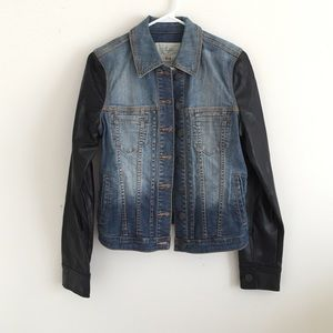 Buffalo leather denim jacket size M