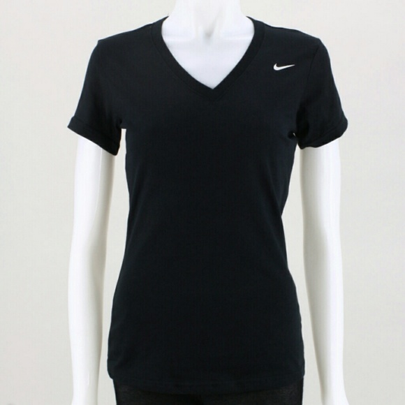 75bf0861 Nike Tops | Black Drifit V Neck Tshirt Size L | Poshmark