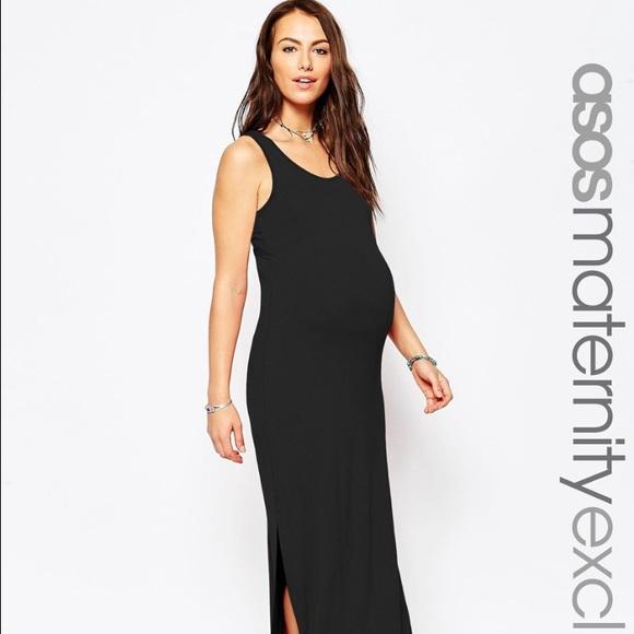 d8867571dc689 ASOS Dresses | Maternity Maxi Dress Us Size 12uk Size 16 | Poshmark