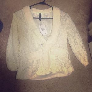 Poof Couture Jackets & Blazers - Lace 3/4 sleeve Blazer