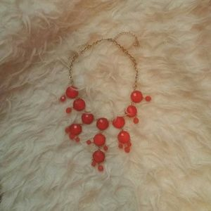 Gorgeous red statement necklace!