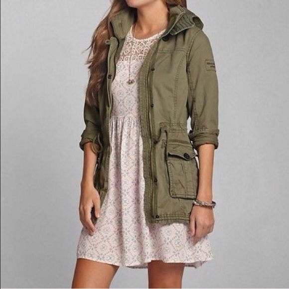 Abercrombie & Fitch - New Abercrombie Bailey Olive Green Hooded ...