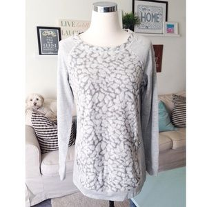 Grey Snow Leopard Sweater