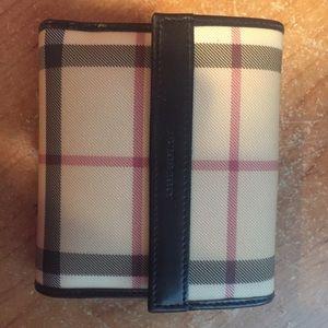 Burberry classic nova check wallet/coin purse