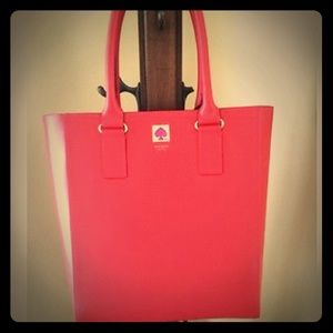Kate Spade New Bond Street Empire Red Leather