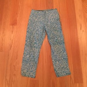 Putu by J. MacLear Pants - blue tropical floral print pants