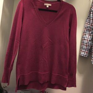 Banana Republic Sweaters - BR Extra Fine Merino V Neck Raspberry Sweater