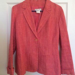 Gerard Darel Jackets & Blazers - Vintage Gerard Darel Red/Pink Linen Blazer