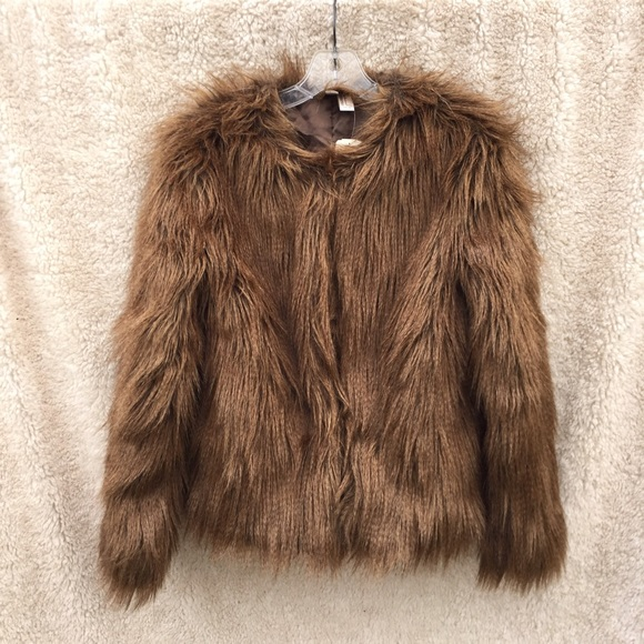 33% off Jackets &amp Blazers - ?Holiday Sale! Brown fluffy faux fur