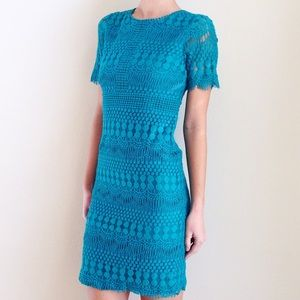 | new | teal lace dress
