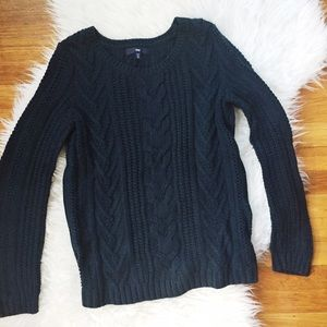 GAP Sweaters - GIFTED -- Gap dark teal cable knit sweater