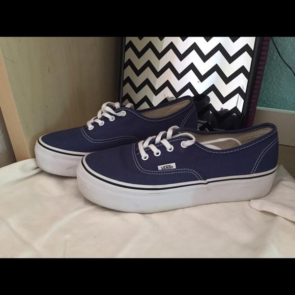 Vans Shoes | Denim Blue Platform | Poshmark