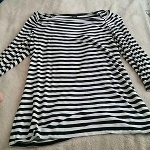 Stripe black and white blouse