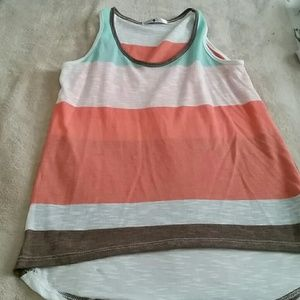 Colorful stripes top