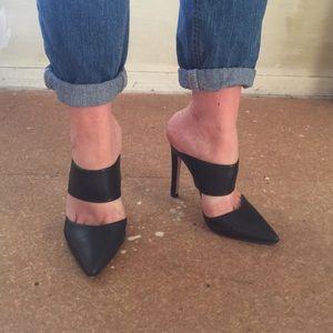 Forever21 black point toe stiletto heels