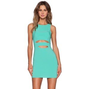 FINAL SALE • NBD sea green cut out dress size XS •
