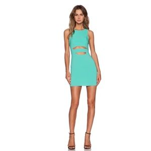FINAL SALE• NBD sea green cut out dress size M •