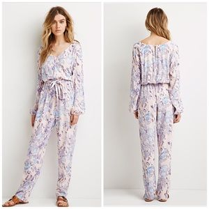 Forever 21 Other Abstract Long Sleeve Jumpsuit Poshmark