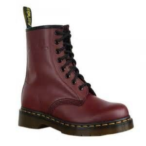 Like new cherry red dr. Martens 1460 doc martens