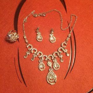 None Jewelry - Rhinestone Set, perfect for Prom
