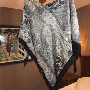 Abe Schrader 1960's Vintage Silk Scarf.