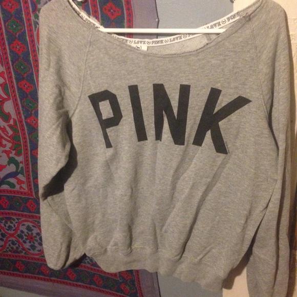 65% off PINK Victoria's Secret Sweaters - PINK brand off shoulder ...