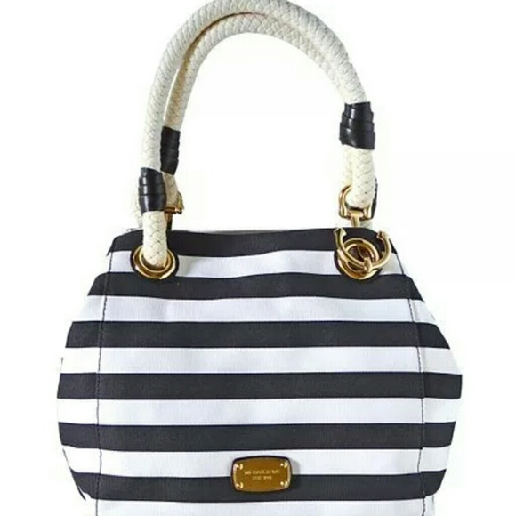 c8f7489a3c002b Michael Kors Bags   Trade Only Marina Blackwhite Stripe   Poshmark