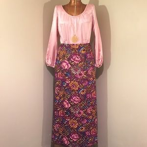 60's Quilted Maxi