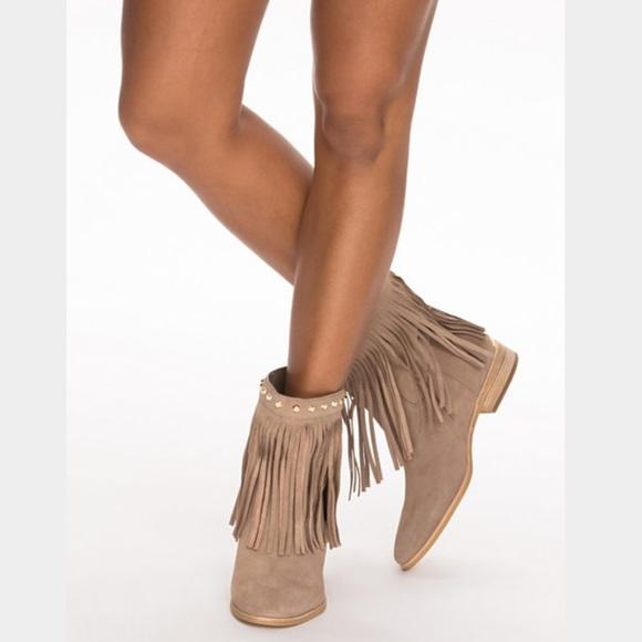 73% off Michael Kors Shoes - RESERVED Michael Kors tan fringe ...