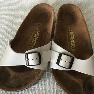 e2697cb2b538 Birkenstock Shoes - Birkenstock Cream Madrid Sandals Size 35