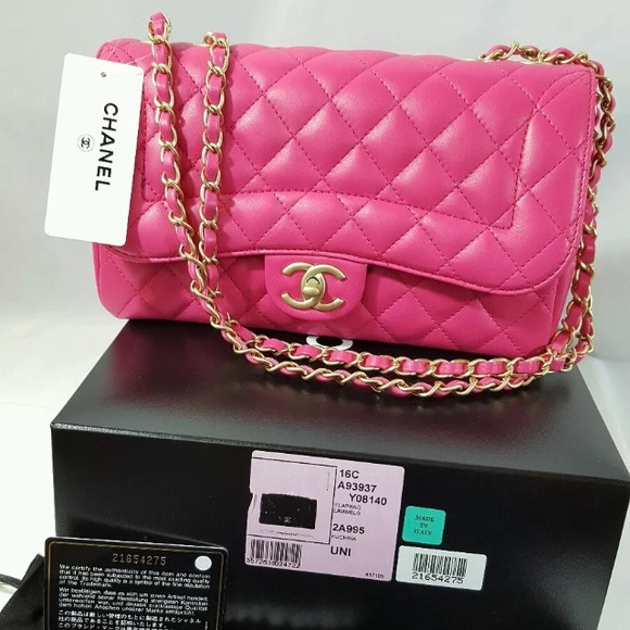 f94c1f9748b2 CHANEL Bags | Fuchsia Single Flap Lamb Skin Bag | Poshmark