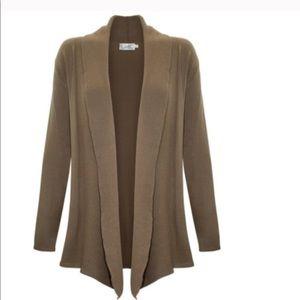 Khaki Open Shrug Sweater