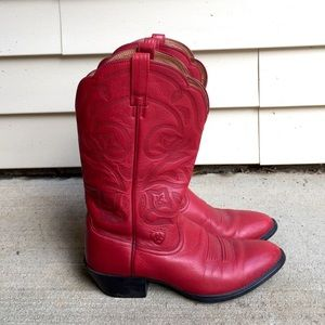 Ariat Shoes - Ariat Red Deertan Boots! ❤️ SALE!