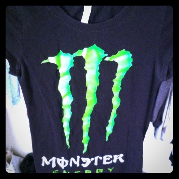 33 off monster energy tops monster energy t shirt from. Black Bedroom Furniture Sets. Home Design Ideas