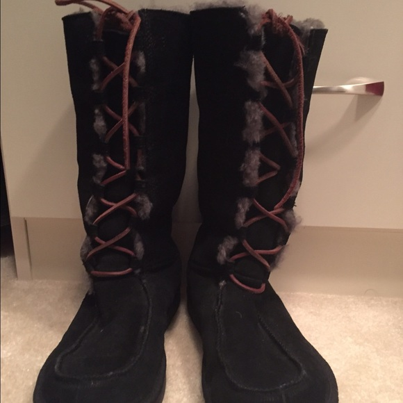 Ugg Shoes Authentic Tall Black Boot Poshmark