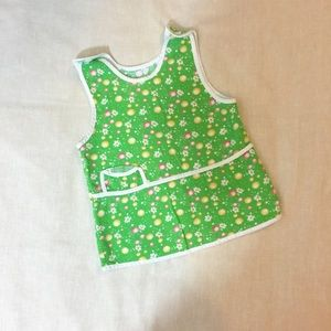 Other - Vintage Bright Green Floral Baby Girl Dress