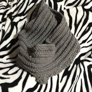 Handmade Gray Infinity Scarf 