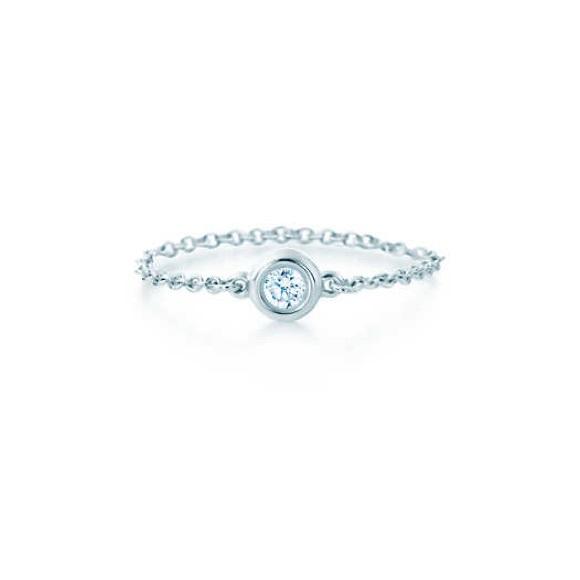 tiffany co jewelry elsa peretti diamonds by the yard ring - Elsa Peretti Color By The Yard Ring