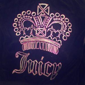 Black Juicy Couture Velour Zip up